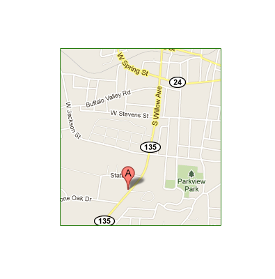 Mapped location of Cookeville Vacuum